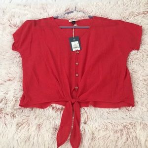 NWT tie front blouse!
